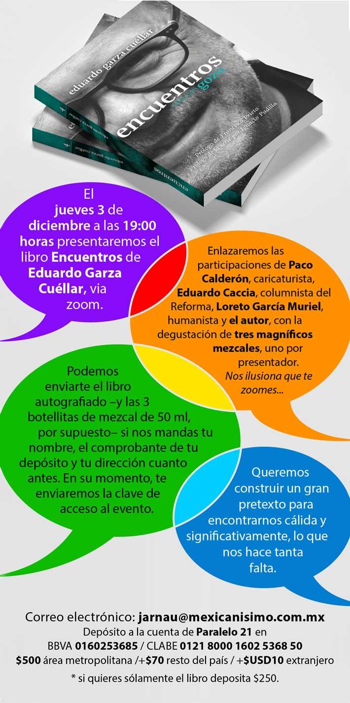 Libro Encuentros de Eduardo Garza Cuellar